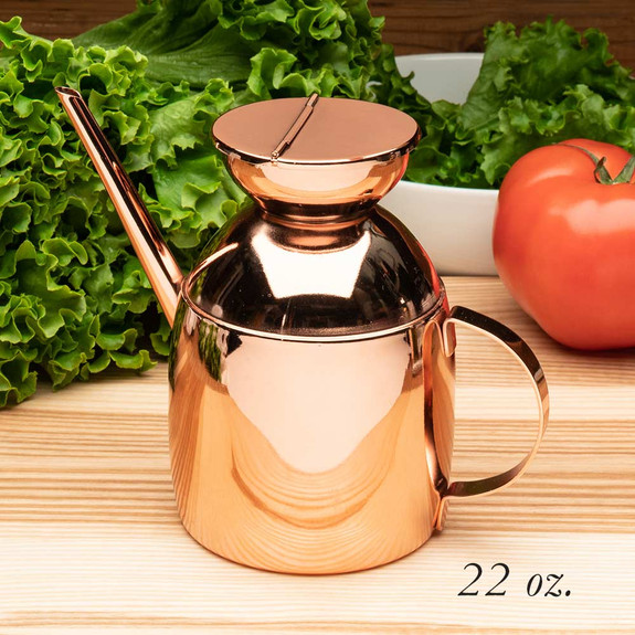 Steel-Lined Copper Decanters