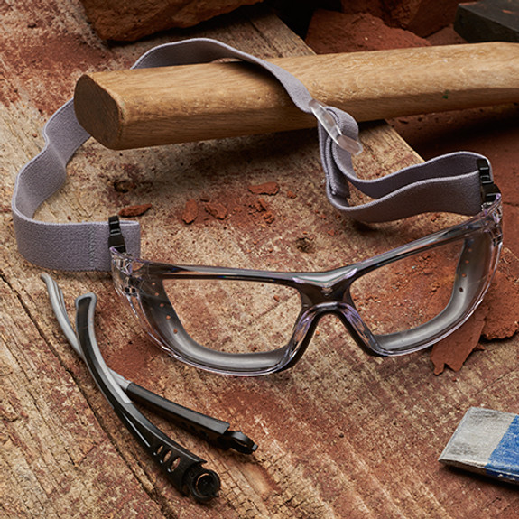 Dual-Function Safety Glasses