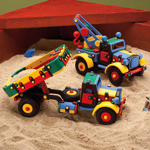Large Colorful and Rugged Toy Trucks