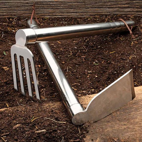 Unbending Stainless-Steel Hoe & Cultivator Set