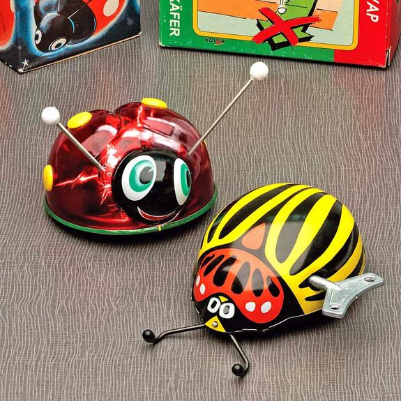 Magical Windup Tin Ladybug & Beetle