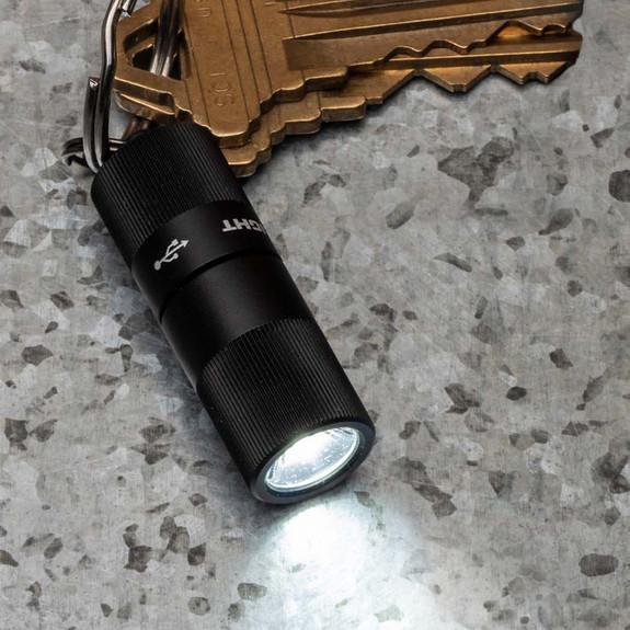 Tiny, Mighty Key-Chain Hi-Tech Flashlight