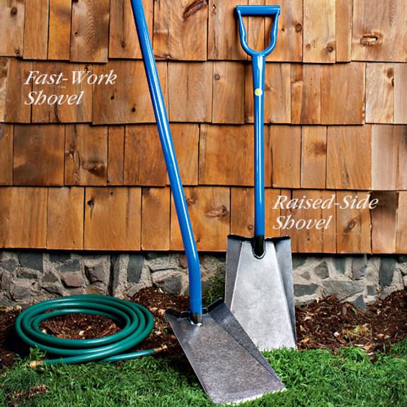 Raised-Side Shovel