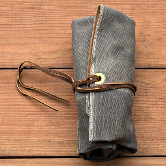 Suede and Duck Cloth Tool Roll