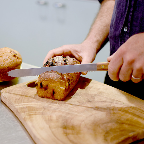 Vintage Marin-Style Butcher and Bread Knife