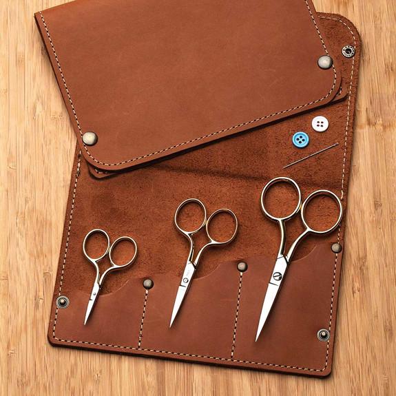 3 Embr. Scissors + Case