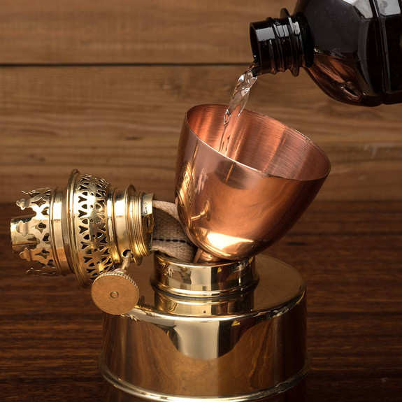 Extra-Bright Brass Oil Lamps