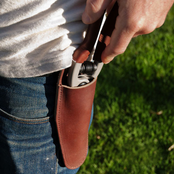 Leather Belt Holster (Bypass Pruner)