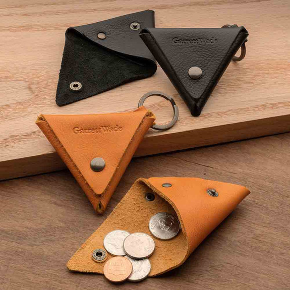 Triangular Leather Coin Holder