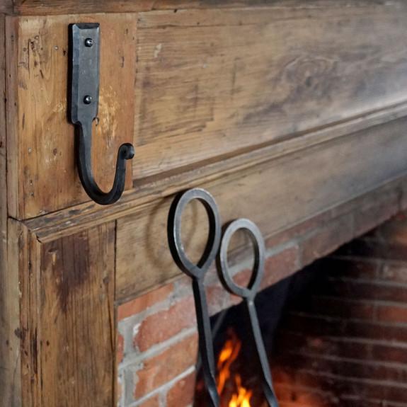 Medium Hand Forged Iron Wall Hook