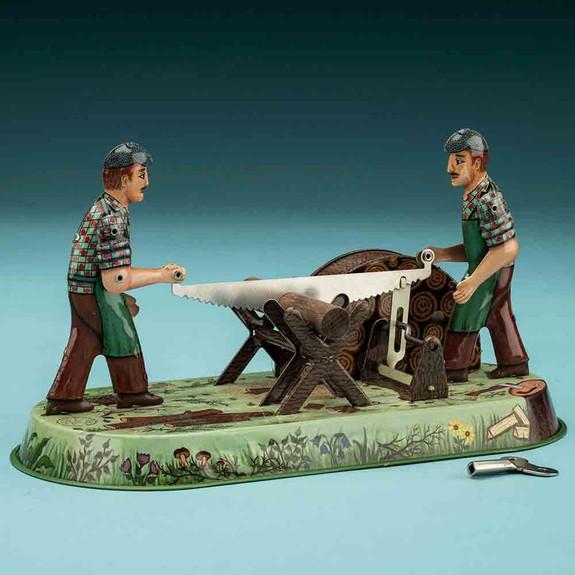 Collectible Woodcutter -Tin Windup