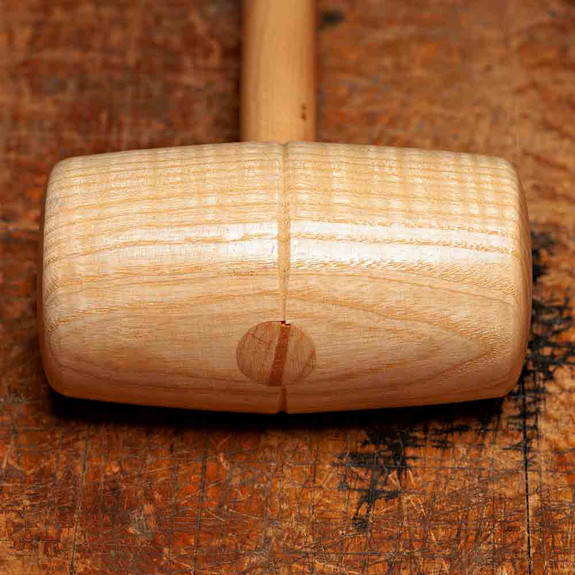 Vintage Oval Shaped Ash Carpenter's Mallets