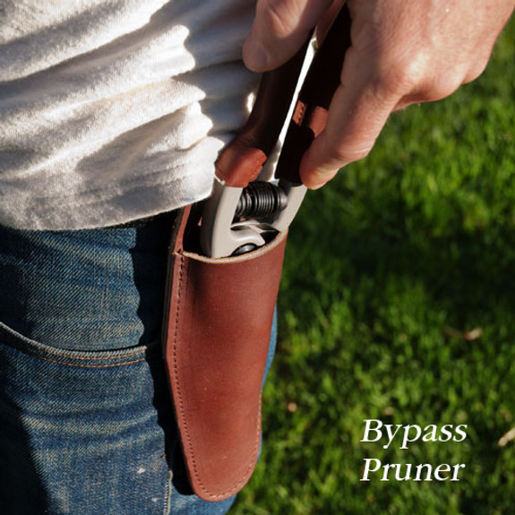 Leather Grip Bypass Pruner