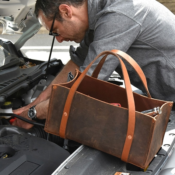 Portable Leather Tool Bag