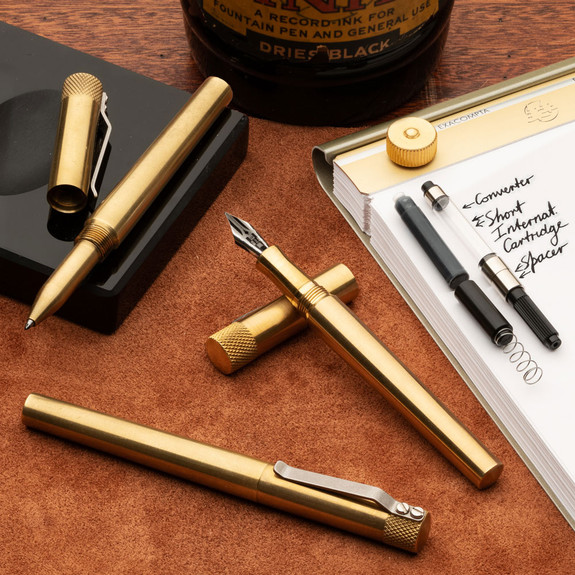 Three USA Made Solid Brass Writing Pens