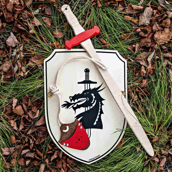 A Knight at the Round Table Toy Sword & Shield Set