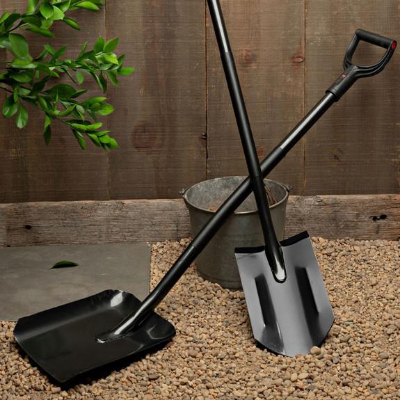 Black Digging Spade w/Metal Handle