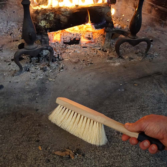 Fireplace Ash Scoop with Hand Broom
