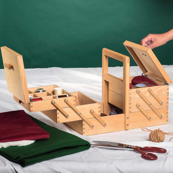 Solid Beech Crafts Storage Box