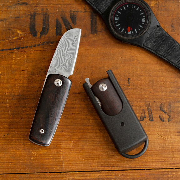 "Mini ""Damascus"" Rosewood Knife"