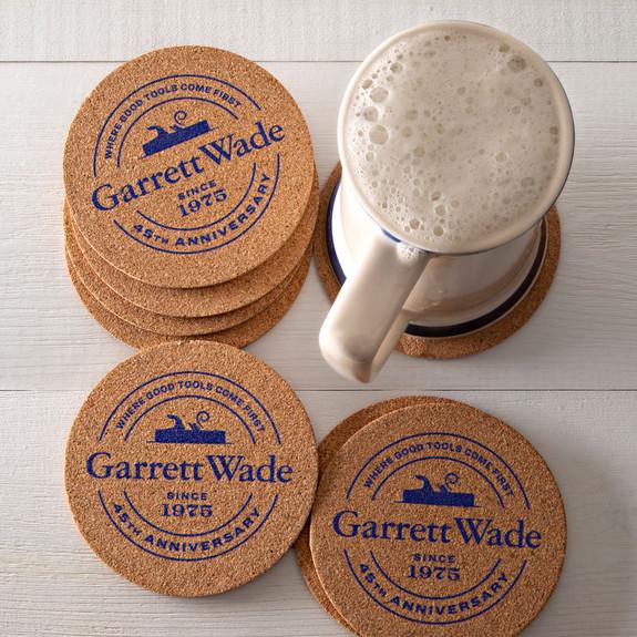 45th Anniversary Cork Drink Coasters