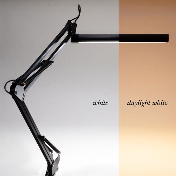 Black LED Workshop & Desk Lamp