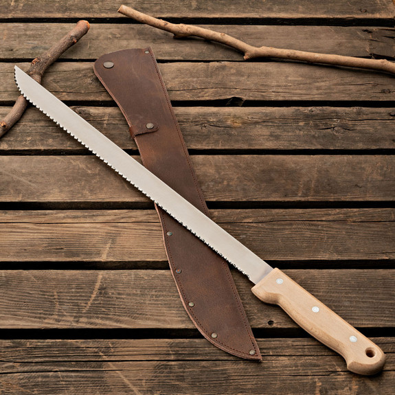 Toothed Straight Machete