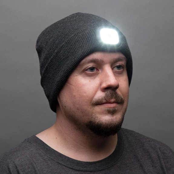 Winter Beanie with a Built in Rechargeable LED Light