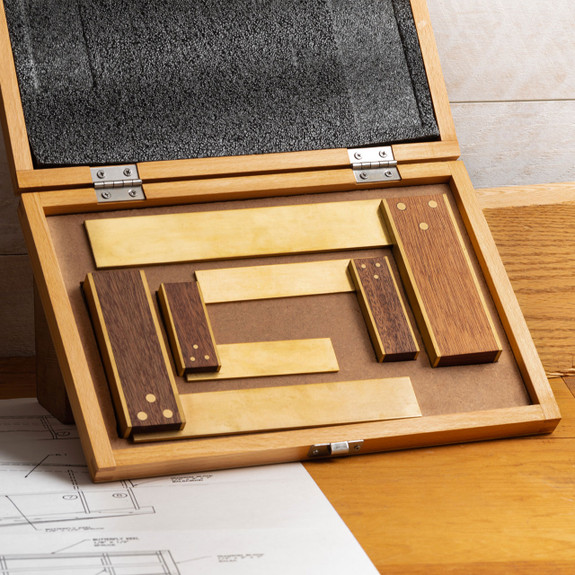 45th Anniversary Rosewood & Brass Try Squares