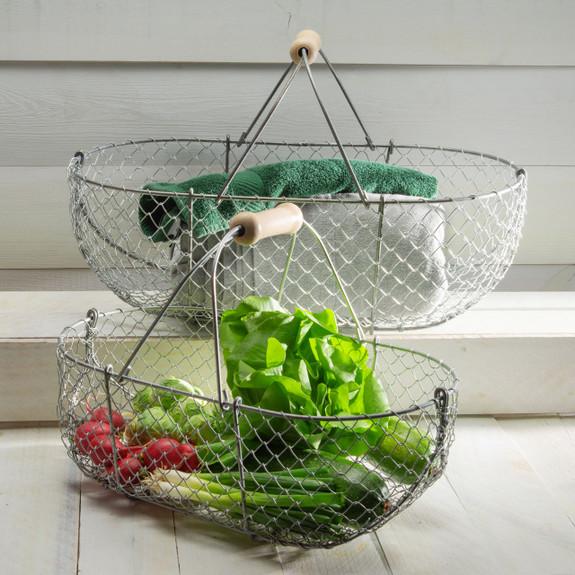 Small Woven Galvanized Basket