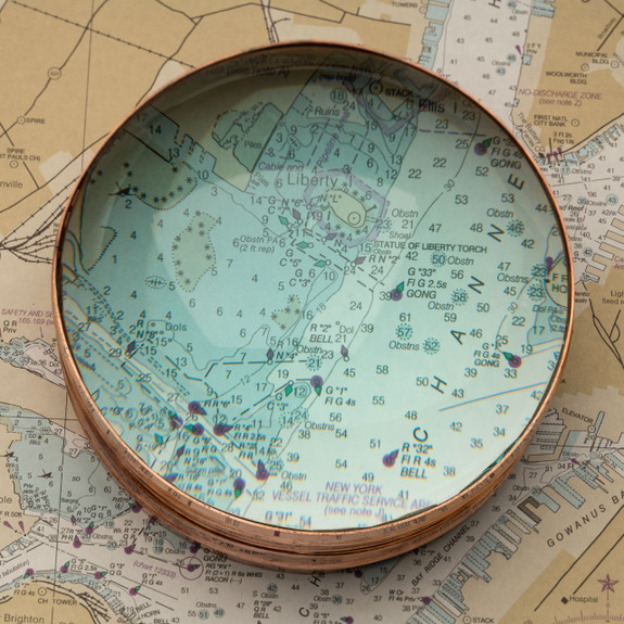Copper-Mounted Tabletop Magnifier