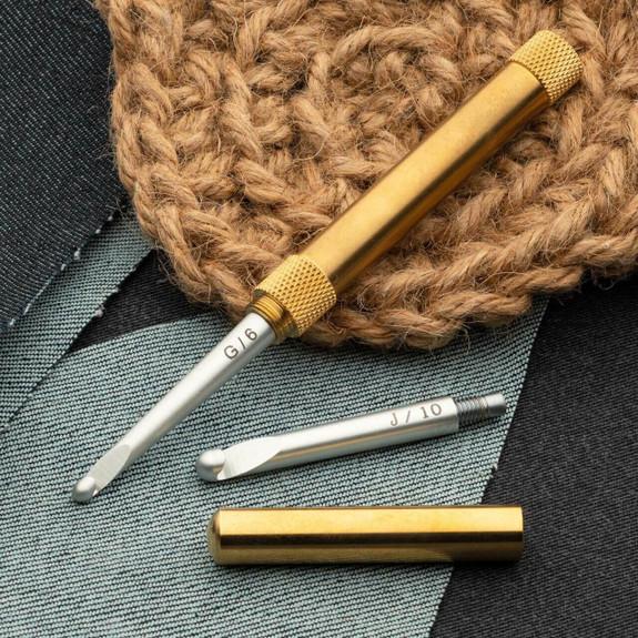 2-in-1 Brass Crochet Hook
