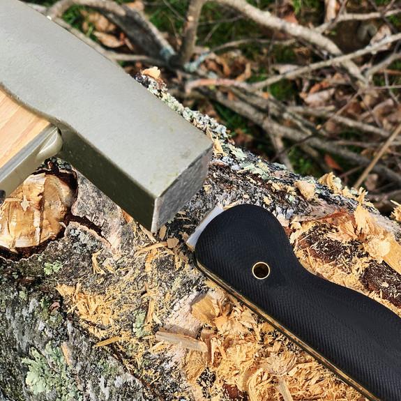 XHD Chisel Knife with Kydex Sheath