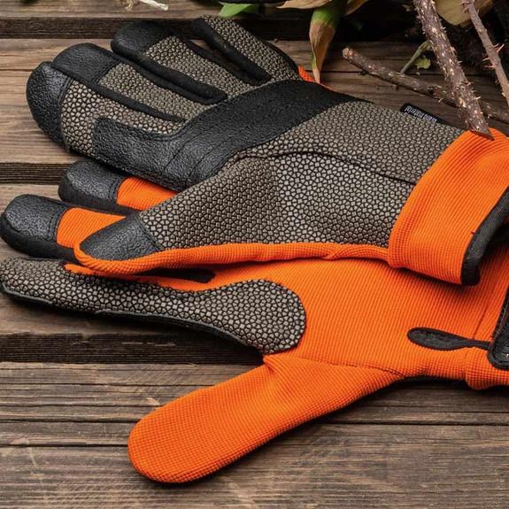 Puncture Resistant Gardening Gloves- Orange
