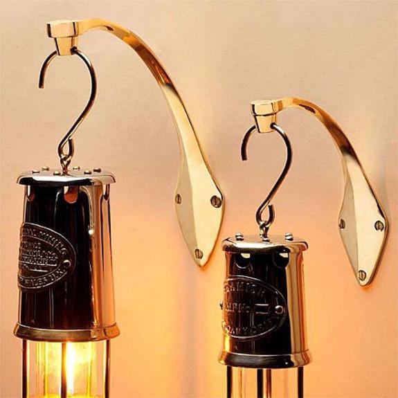 "10"" Beautiful All Brass Oil Lamp"