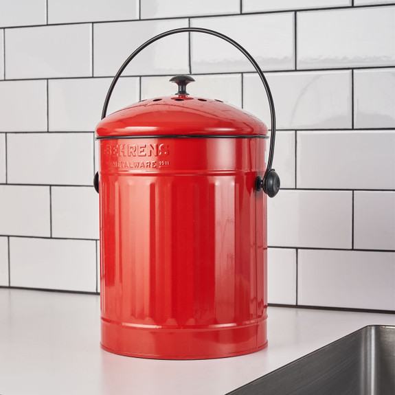 1.5 Gallon Compost Pail in Red