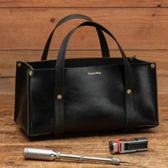 USA Made Portable Leather Tool Bags BLACK