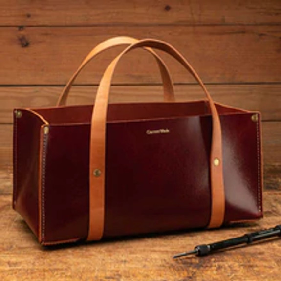 USA Made Portable Leather Tool Bags DEEP RED (multiple colors)