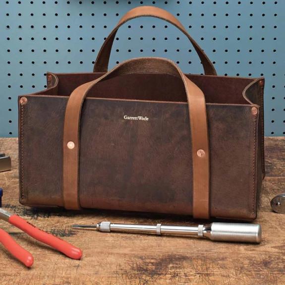 USA Made Portable Leather Tool Bags BROWN