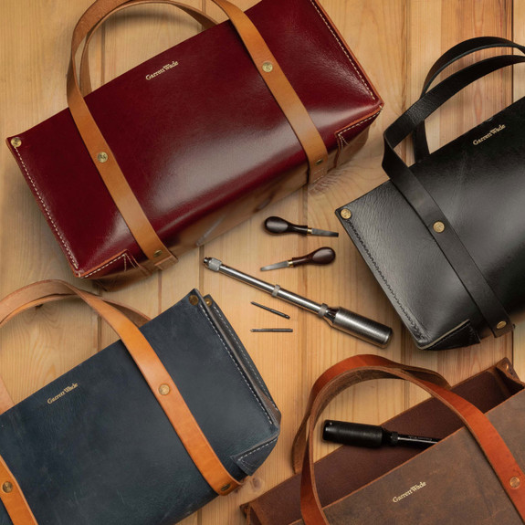 USA Made Portable Leather Tool Bags (multiple colors)