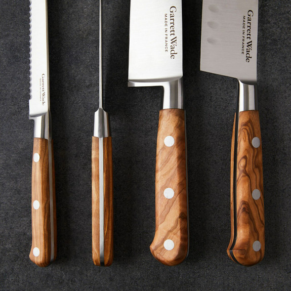 Scalloped Santoku Knife 18cm Olivewood