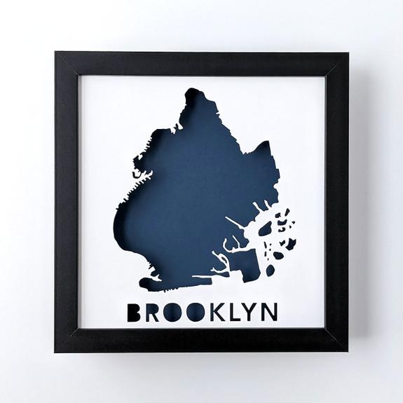 Brooklyn Map Shadowbox
