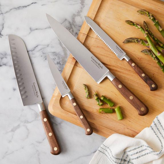 Four Piece Stunning Kitchen Knife Sets in Walnut