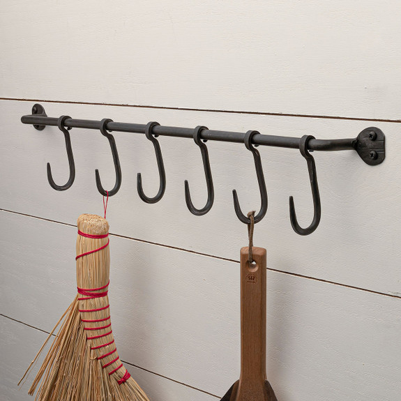 Forged Iron Small S-Hook Rack