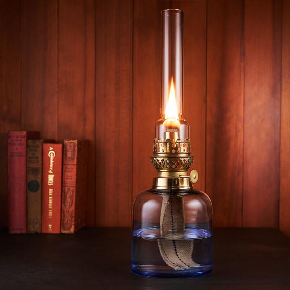 Custom Large Light Blue Glass Lamp