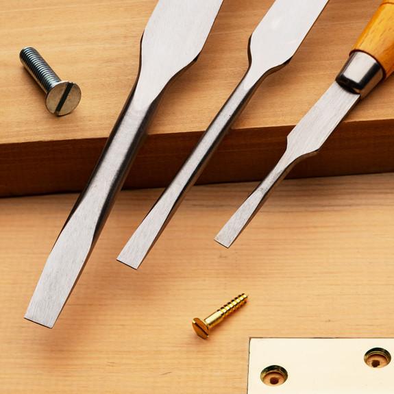Cabinetmaker's Screwdrivers Set of 3