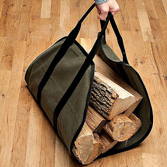 Waxed Cotton Log Carrier