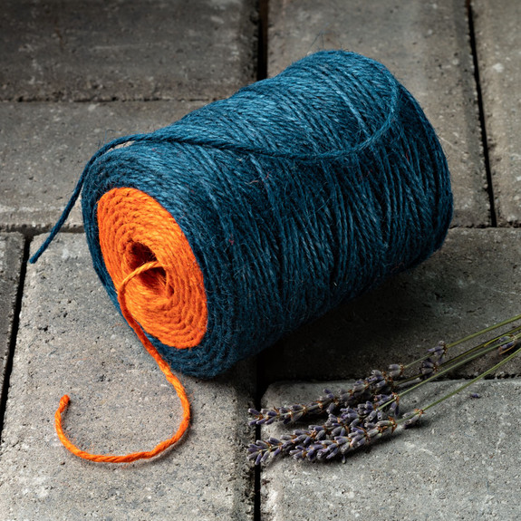 2 Spools Dual-Colored Jute Twine- Blue/Orange and Red/Green