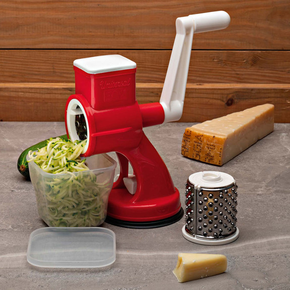 Italian Made Drum Grater With Two Interchangeable Cutters