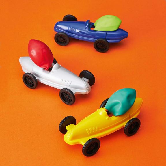 Plastic Balloon-Powered Cars